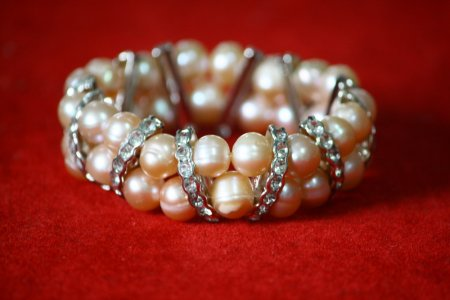 Pearl Bracelets Stacked As Bridal Wedding Accessories