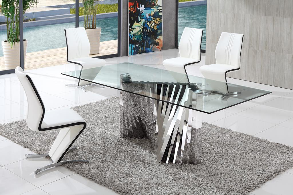 Emejing Contemporary Glass Dining Room Sets Liltigertoo