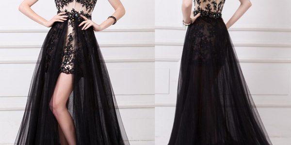 Sheer Lattice Gown