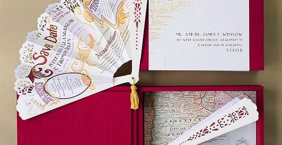 Fan Shaped Invitations