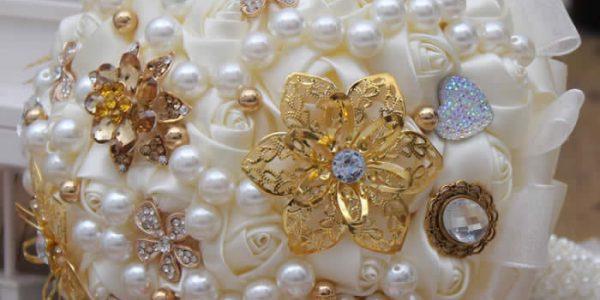 Pearl Bridal Silk Wedding Bouquet