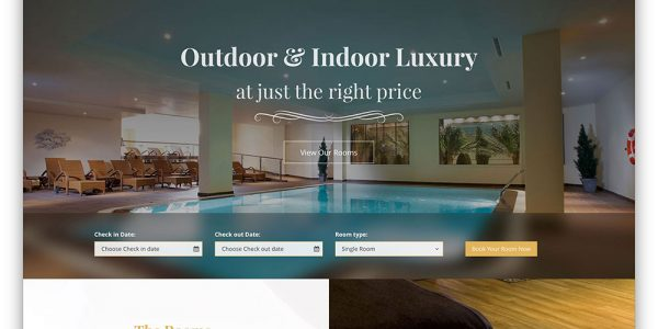 Luxury Room Design Website With Lambda Multipurpose Hotel Booking Website Template