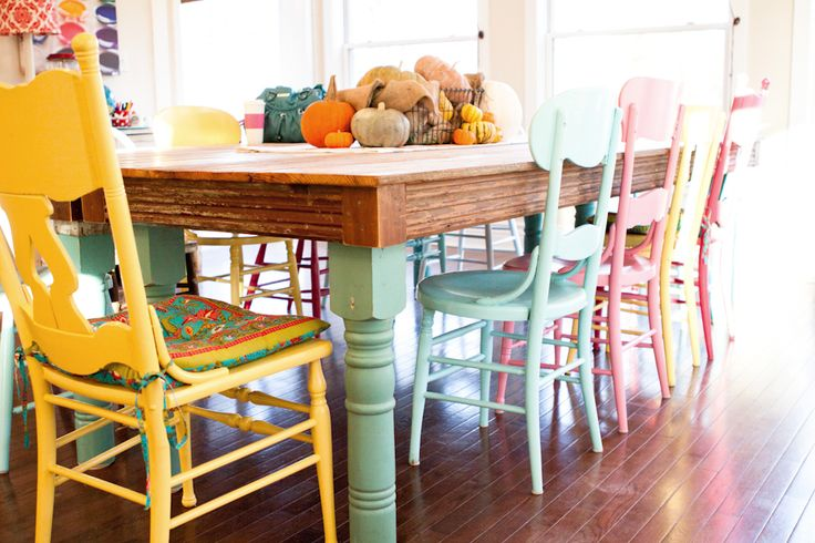Trend Colorful Dining Room Chairs With The Colorful Chairs On Pinterest  Chairs Princess Chair And Red Intended For Colorful Kitchen Tables Remodel