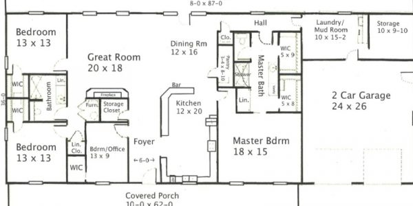 Impressive Metal Building Home Floor Plans With Barndominium Floor Plans With Garage