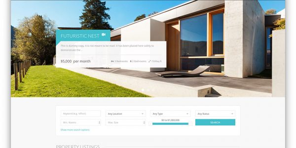 Creative Real Estate Agencies With Realty Modern Real Estate Wordpress Theme