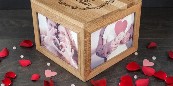 Trend Wedding Anniversary Gifts For Couples With Couples Personalized Photo Keepsake Box
