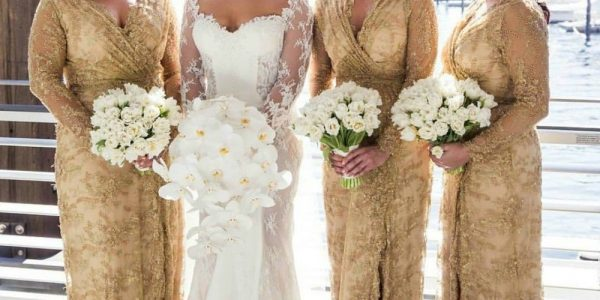 Adorable Amazing dresses as bridesmaid with beauty Gold Bridesmaid Dresses