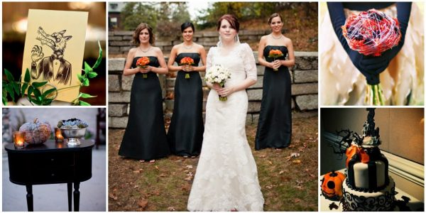 """Bewitching Halloween Wedding """"Hallowedding,"""" which added to the day's spooky vibe."""