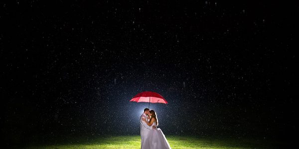 This Couple's Rainy Wedding Day at Castleton Farms is Too Pretty for Words