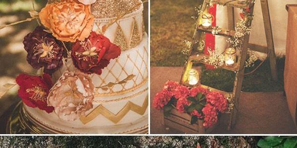 Fall wedding color tablescapes ideas