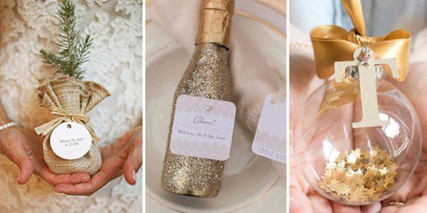 Fantastic festive winter wedding favour ideas