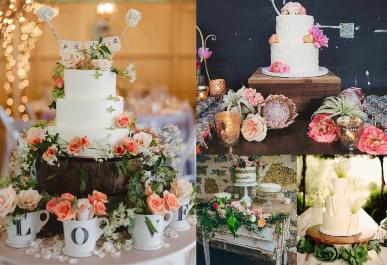 One of the beauties of wedding cakes is that you can be as creative as you want