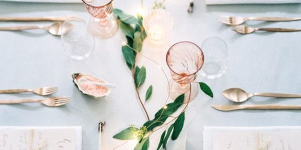 Keep the table as clear as possible, making creative (but sporadic) use of color