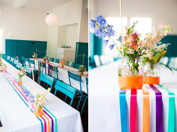 Not for the faint of heart, these bright table runners really add some pizzazz to your table decor