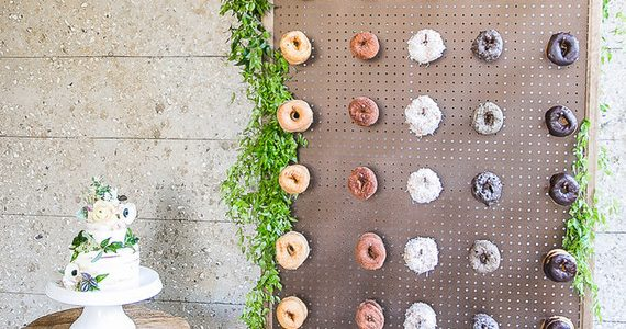 It appears as though a donut wall frenzy has swept through weddings across the nation