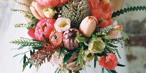 a bouquet of tulips can bring a soft touch of elegance to the overall look