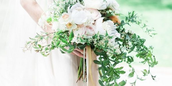 Go green and opt for a bouquet laden with greenery