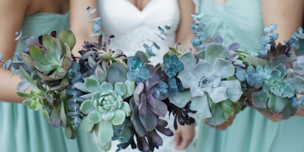 Succulent wedding decor is one wedding trend that's sticking around for good