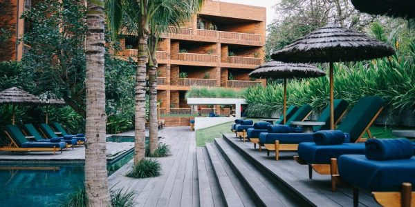 Newly opened in 2016, the Katamama is a pristinely designed boutique hotel with a unique brick exterior