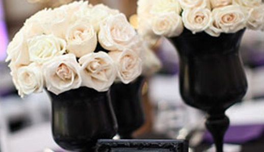 With a black and white themed wedding, you will base everything off of the basic and elegant colors of black and white