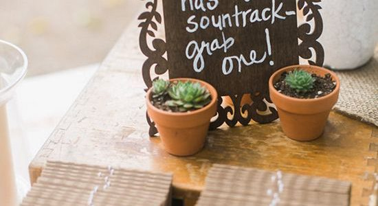 Because you're obviously going to have the best music at your wedding, creating a soundtrack for your guests to take home is a great idea!
