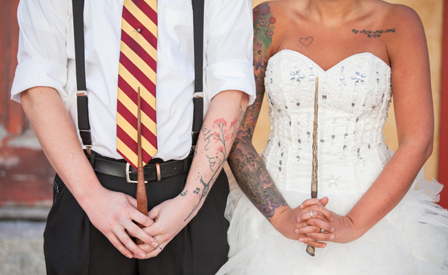 temporary tattoos are just what's needed to step up your Harry Potter wedding game.