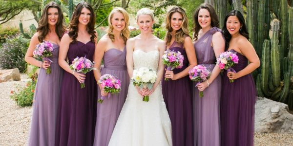 A good goal when it comes to wedding colors and style is to make the whole event feel cohesive.