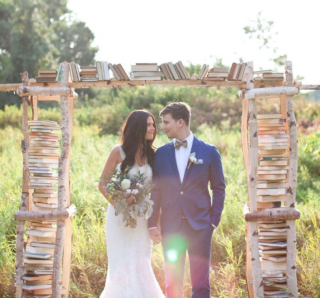 "Forget about hosting your wedding in a barn or ballroom, say your ""I dos"" in a place that really speaks to your love for literature - a library."