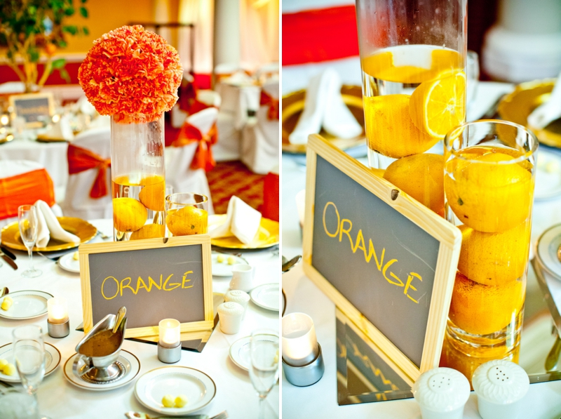 Elegant orange blue wedding every last detail elegant orange blue orange grove themed wedding via theeld junglespirit Choice Image