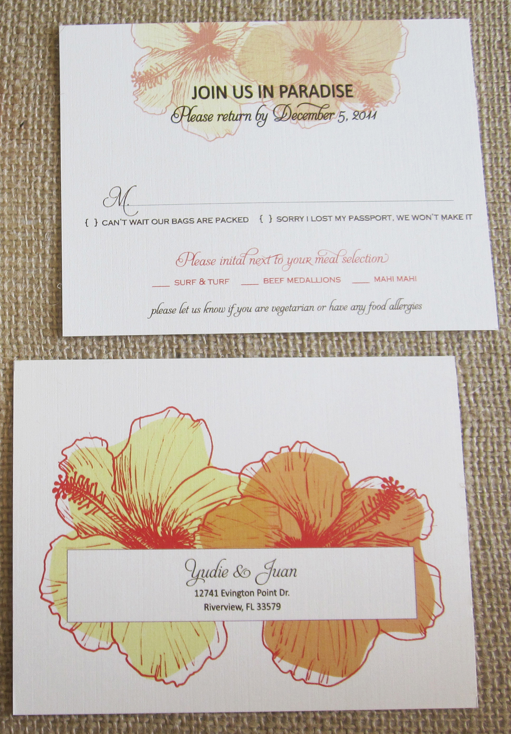 Stationery Week: RSVP Card Insight via TheELD.com