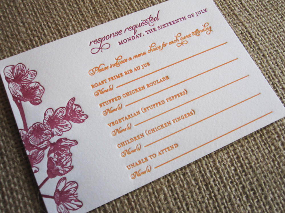 Rsvp card insight etiquette every last detail stationery week rsvp card insight via theeld stopboris