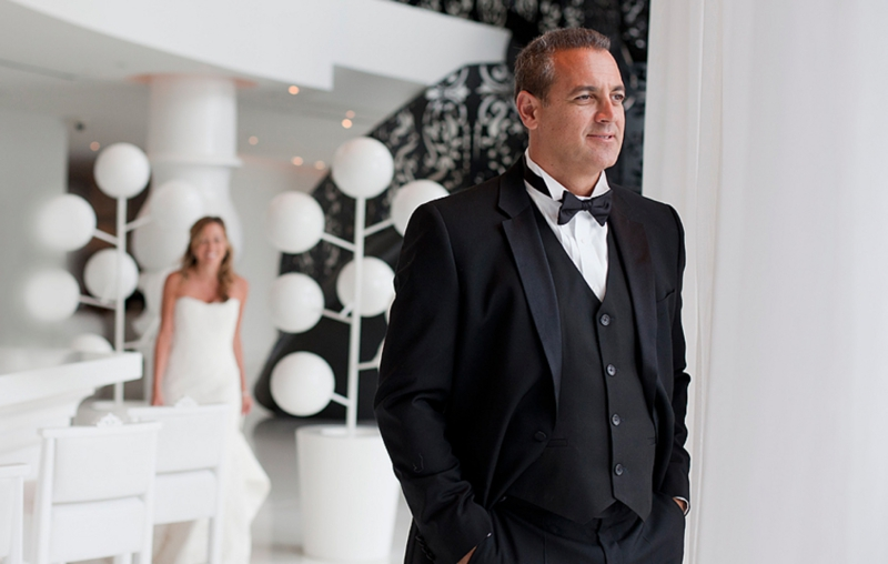 Glamorous Purple & White Miami Wedding At The Vizcaya via TheELD.com