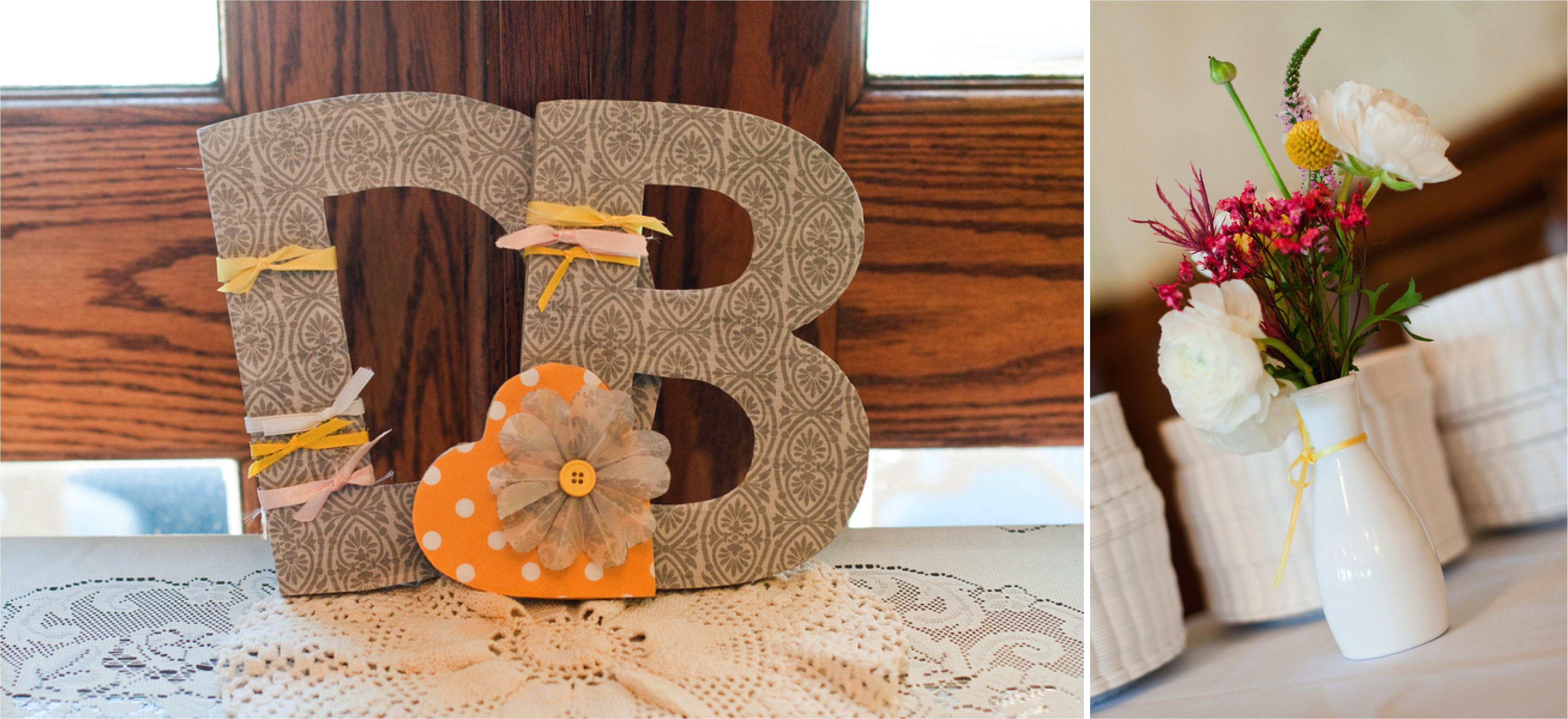 Yellow & White DIY Arizona Wedding via TheELD.com