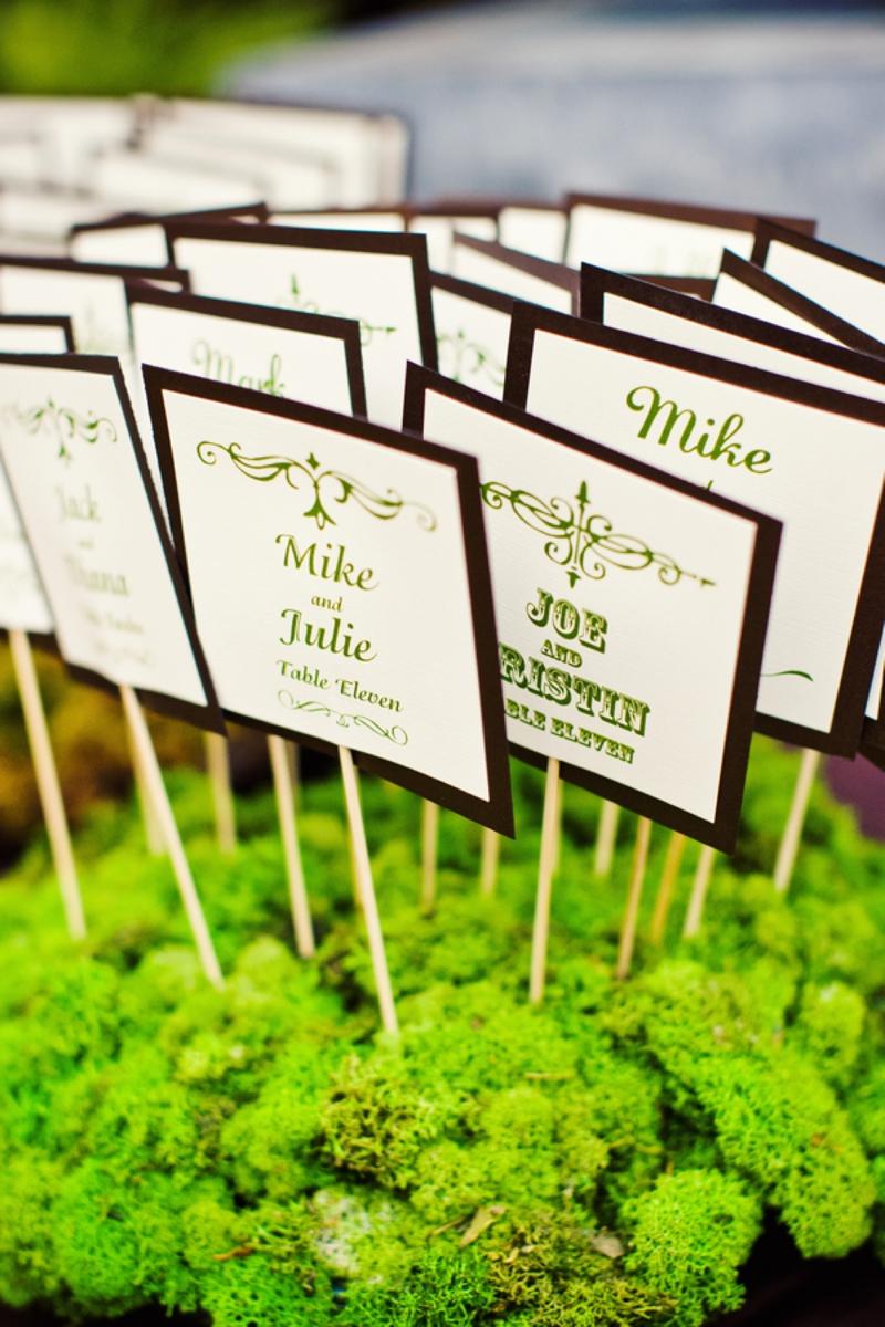 Modern, Elegant Green & Brown Fall Wedding - Every Last Detail
