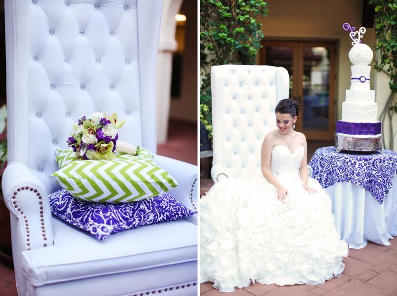 Modern Baroque Purple & Green Wedding Inspiration via TheELD.com
