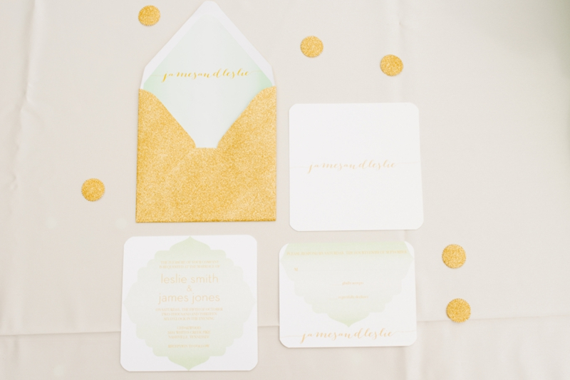 Pink, Mint & Gold Wedding Inspiration via TheELD.com