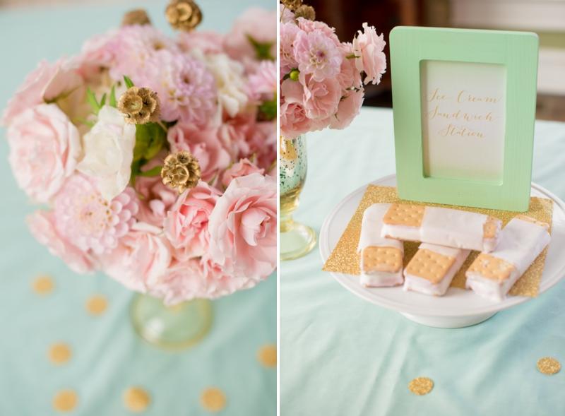 Pink, Mint & Gold Wedding Inspiration via TheELD.com