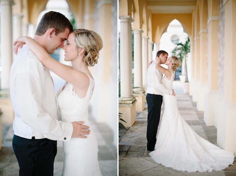 Pale Pink and Mint Green Florida Wedding via TheELD.com
