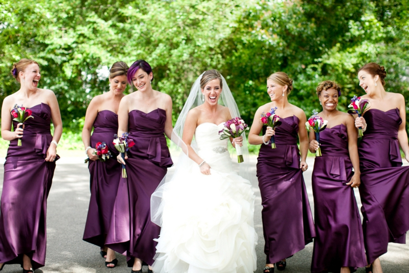 Elegant Eggplant Amp Navy North Carolina Wedding Every