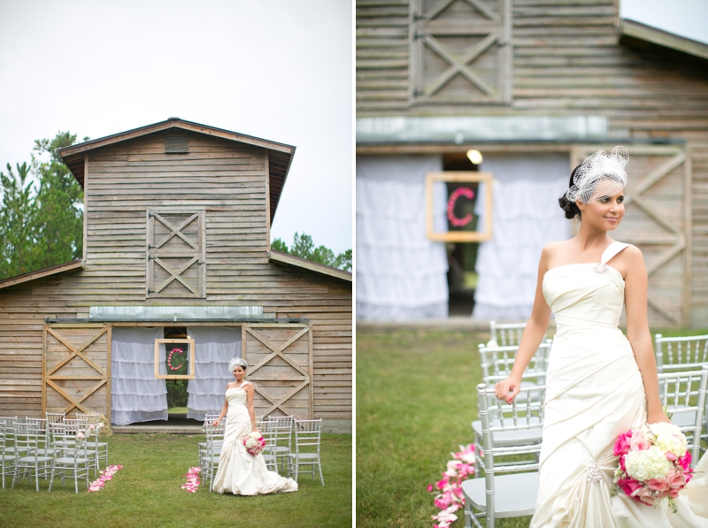 Pink & Gray Southern Glam Wedding Inspiration via TheELD.com