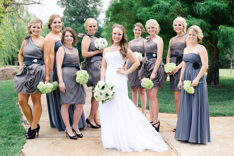 Romantic Gray Green White Oklahoma Wedding