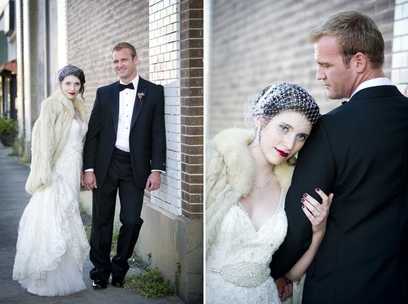 Modern Purple & Red Winter Wedding Inspiration via TheELD.com