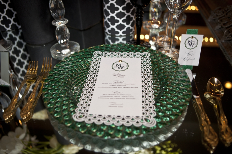 Modern Amp Glamorous Emerald Green Wedding Inspiration