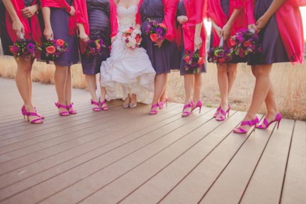 Pink & Purple Modern Eclectic Chicago Wedding via TheELD.com