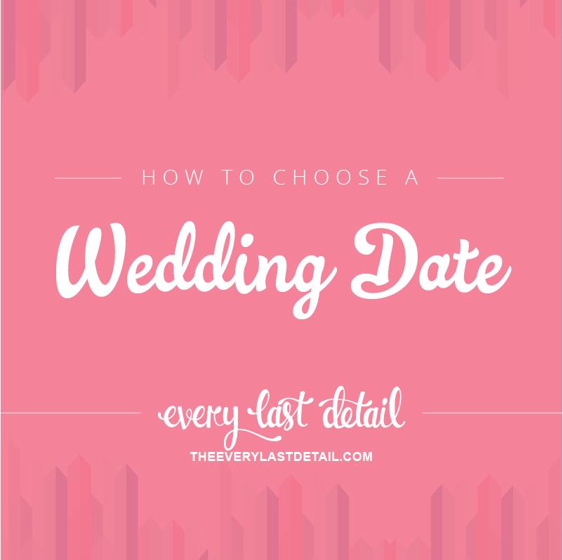 How To Choose A Wedding Date via TheELD.com