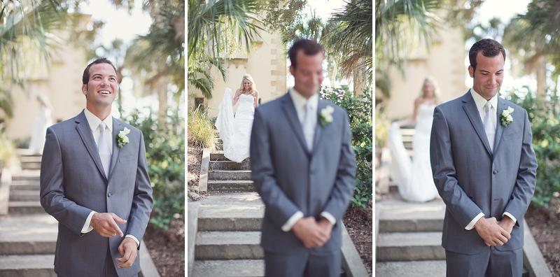 Vintage Peach and White Florida Wedding via TheELD.com