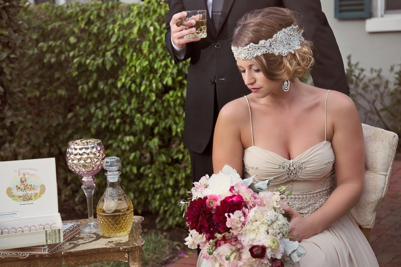 1920s Vintage Glam Wedding Inspiration via TheELD.com