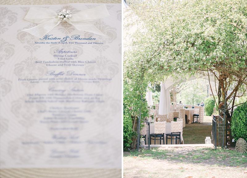 Classic Outdoor Blue, Champagne, & Pink Georgia Wedding via TheELD.com