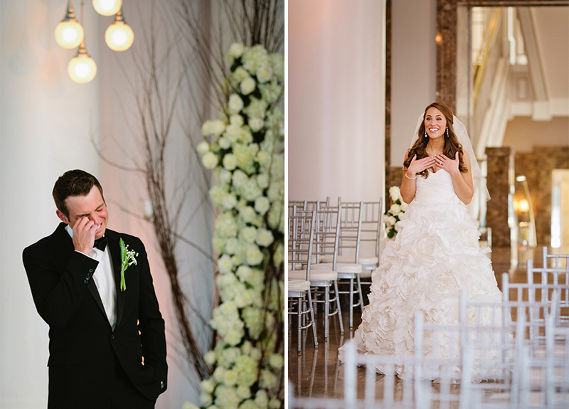 Elegant Pink, White, and Champagne Tennessee Wedding via TheELD.com