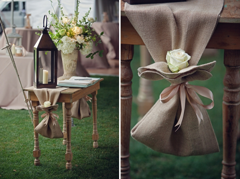 Green, Blue, and Burlap Southern Wedding via TheELD.com